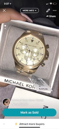 round silver-colored chronograph watch with link bracelet 162 mi