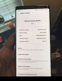 Note 9 Sprint  Atlanta, 30318