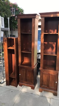 brown wooden display cabinet and cabinet Los Angeles, 90022