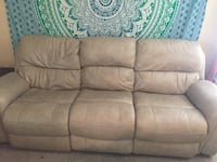 brown leather 3-seat sofa Saint Augustine, 32086