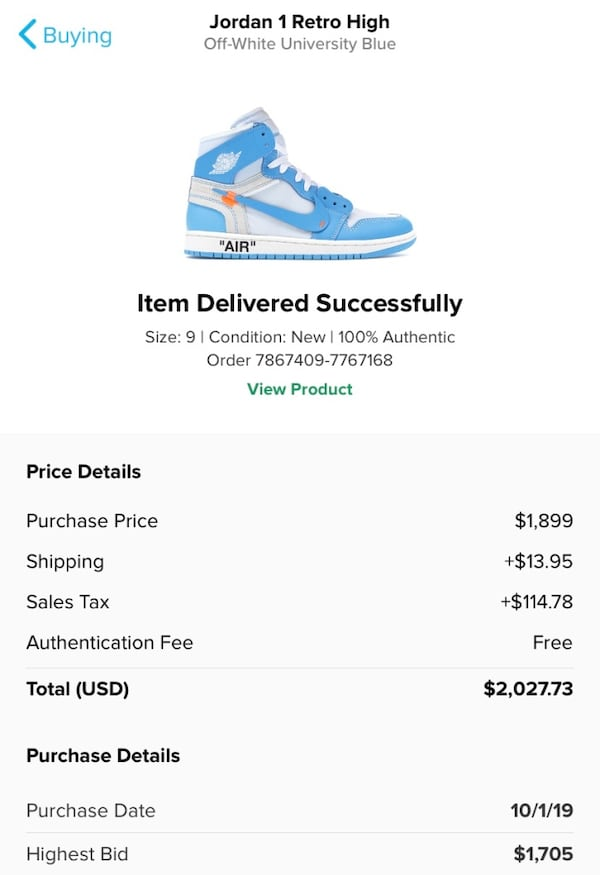 UNC off-white 1's Sz9 a61bf66a-8360-4400-a1fc-3137aacc38ad