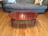 Solid Cherry Wood Inlaid Design Coffee Table Evans, 30809
