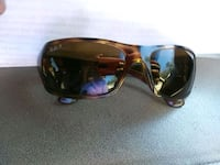 black sunglasses with brown frames ray bands  Phenix City, 36867