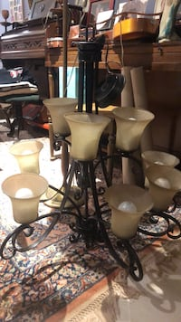 Black and white uplight chandelier Boyds, 20841