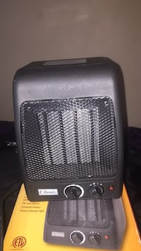 Classic ceramic heater with thermostat ask 10 doesn't have box used a few times still good tho