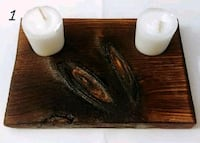Burnt wood tealight candle holder Cambridge, N1R