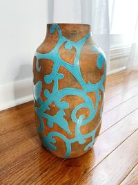 Brand New Clay Pot with Turquoise Accents