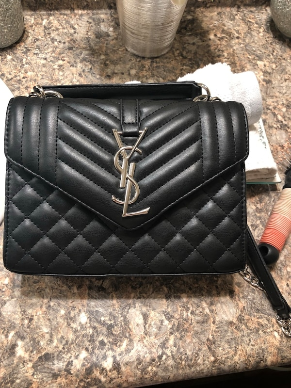 38771a92d836 Used Black leather ysl crossbody bag for sale in San Ramon
