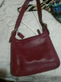 red leather coach purse Detroit, 48224