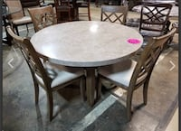 Brand new round Marble top dining room table with chairs  Pineville, 28134