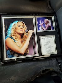 Carrie Underwood framed picture Asheville