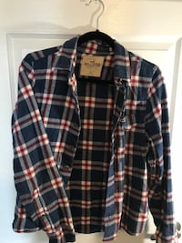blue and red plaid Hollister sport shirt Newmarket, L3Y 8H9