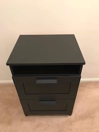 Black wooden nightstand