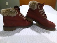 pair of red suede boots Forest, 24551