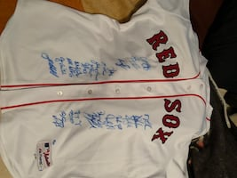 2007 World Series Champions Boston Red Sox jersey signed by players
