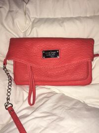 red leather 2-way bag Red Hook, 12571