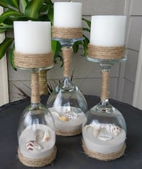 Set of 3 candle holders, made to order Conway, 29527
