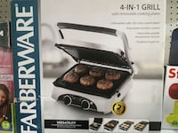 New.4 in 1 Farberware grill. Gridle  pannini press Mississauga