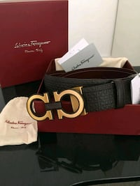 black ferragamo leather belt with box Montréal, H1H 4R4