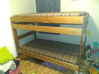 brown wooden bunk bed frame Nashville, 37076