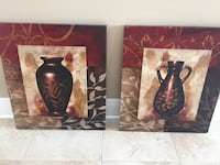 two brown and black vases painting Harvey