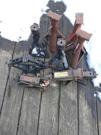Group of Jack stands and car Jack's