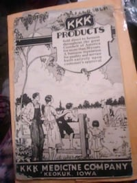 Antique KKK Pharmacy catalog