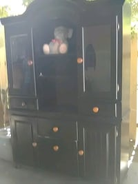 black wooden cabinet with drawer Laredo, 78043
