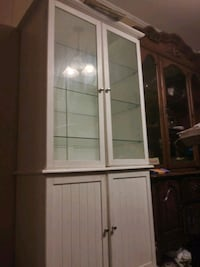 Large White Glass Cabnit with storge  Grand Bay, 36541