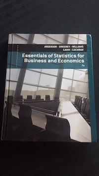 Essential of statistics for business and Economics Vancouver, V6P 6H5