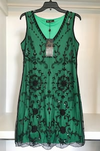 NWT Emerald Beaded Evening Dress Spring Hill