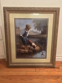 Painting of Young Boy and his dog Los Angeles, 91423