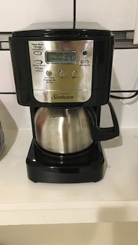 black and silver Sunbeam coffeemaker St Catharines, L2T 1P9