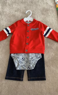 Brand new 9 month old baby boy 3 piece outfit Mississauga, L5B