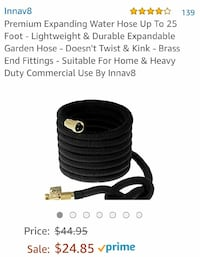 Expanding 25ft water hose