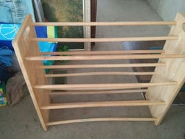wood DVD shelf