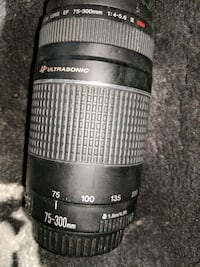 black and gray Canon DSLR camera lens 75-300mm Calgary, T3J 2Y8