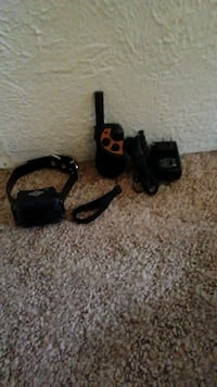 black two way radio for training a animal.
