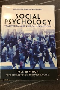 Social Psychology traditional and critical perspectives. Toronto, M4C 3K8