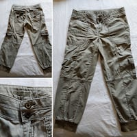 Guess green cargo pants size small