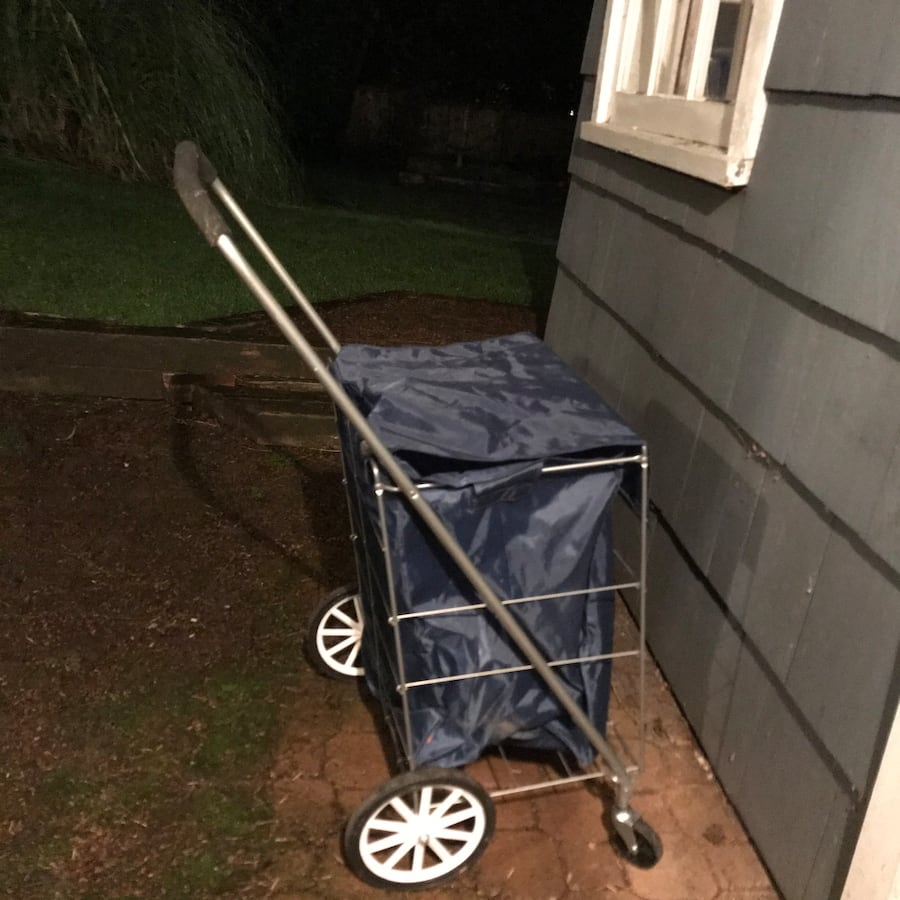 Folding Rolling tote cart with cover