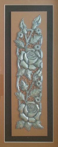 Silver Roses Wall Mounted Frame