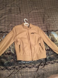 Tan leather jacket Oak Forest, 60452