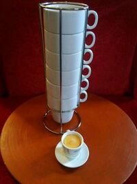 Set of 6 elements coffee cups with stand. Buy it t Buena Park, 90621