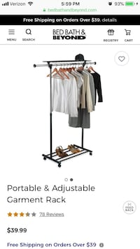 clothing rack/ storage rack
