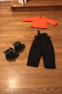 Child snow suit and snow boots