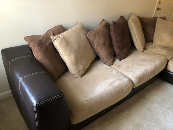 Used Brown And Black Sectional Couch For Sale In Atlanta