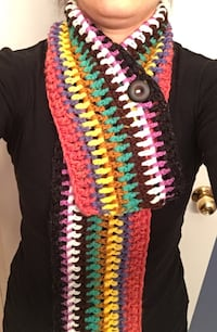 colored knitted scarf