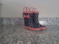 red and black polka dot rain boot  Fairfax, 22030