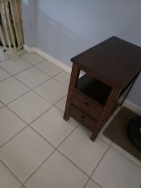 brown wooden 2 drawer side table Fort Myers, 33905